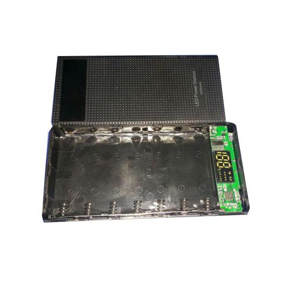 Box Sạc 7 Cell Lắp Pin Hỗ Trợ Sạc Nhanh QC3.0n Màn Hình LED Báo Dòng Sạc Vào Ra( chưa pin)