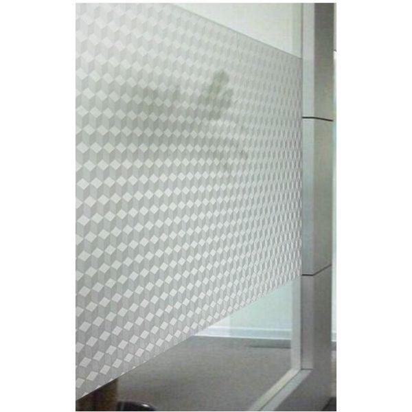 Decal dán kính mờ hình lập phương 3d - decal dán kính phòng khách - phòng ngủ - khách sạn - nhà hàng DK59 - 60x500cm