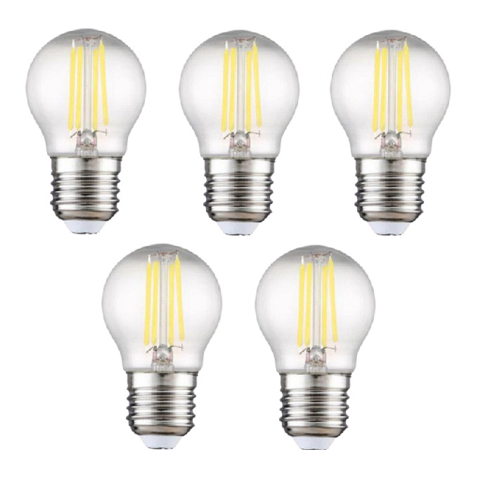 Bộ 5 bóng đèn Led Edison G45 4W đui E27.