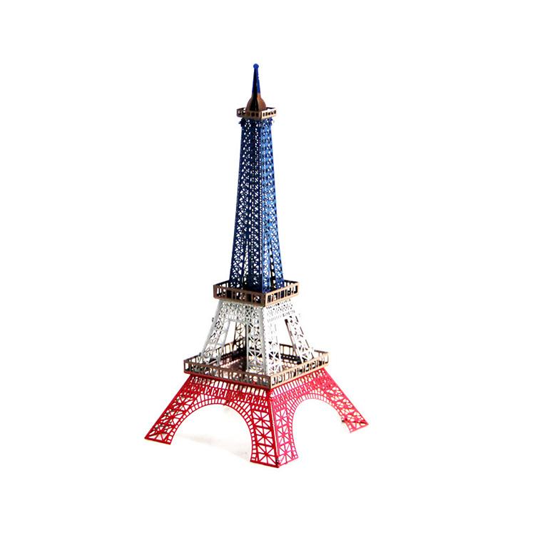 Mô hình thép 3D tự ráp tháp Eiffel bản màu