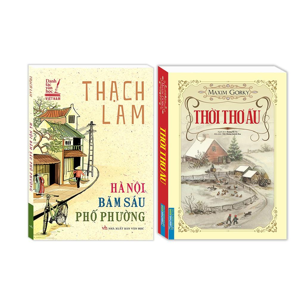 Combo Hà Nội băm sáu phố phường (bìa mềm) , Thời thơ ấu (bìa mềm)