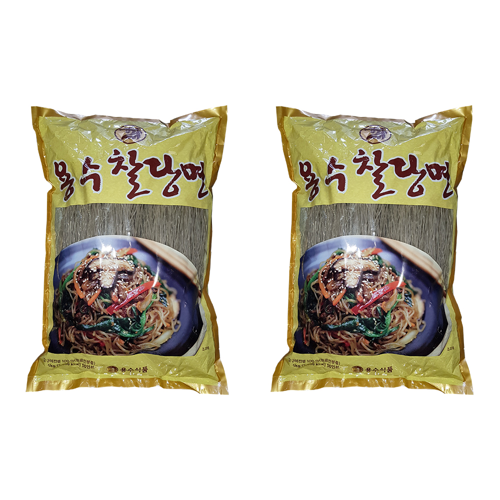 COMBO 2 Gói Miến Khoai Lang Khô Hàn Quốc YONGSOO 1KG - Thương Hiệu Nong Woo