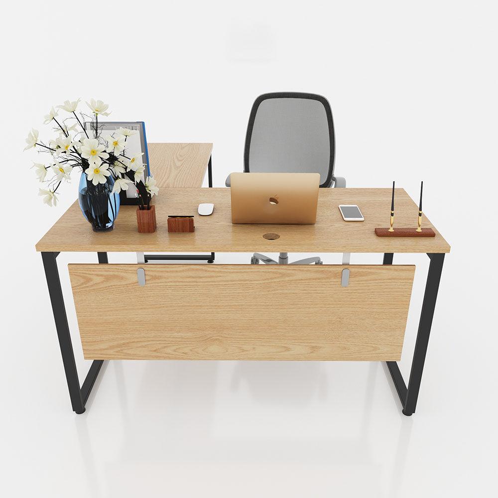 Chân bàn góc chữ L GDCN011 sắt hộp 20x40 lắp ráp kích thước 160 x 80 x 75 (cm)
