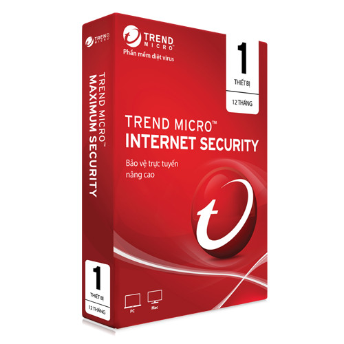 Trend Micro Internet Security - 1PC/1 year- Hàng chính hãng