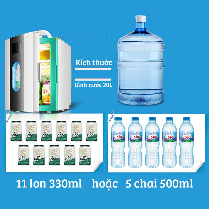 Tủ lạnh mini 10 lít ST10L 2 chế độ làm lạnh hâm nóng cho gia đình và trên ô tô