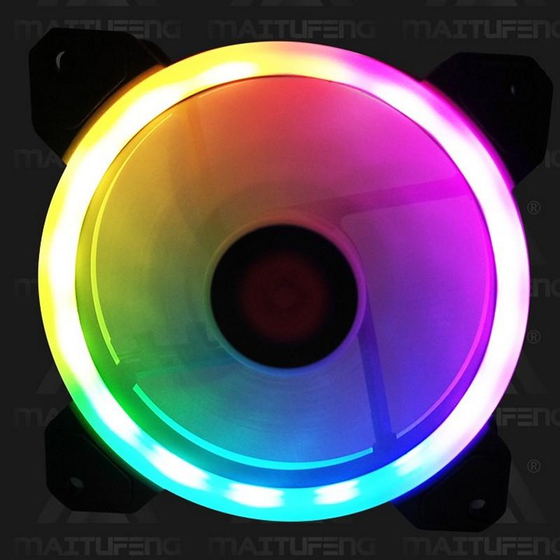 Quạt led RGB 12cm Coolmoon sunshine cho máy tính - hàng nhập khẩu