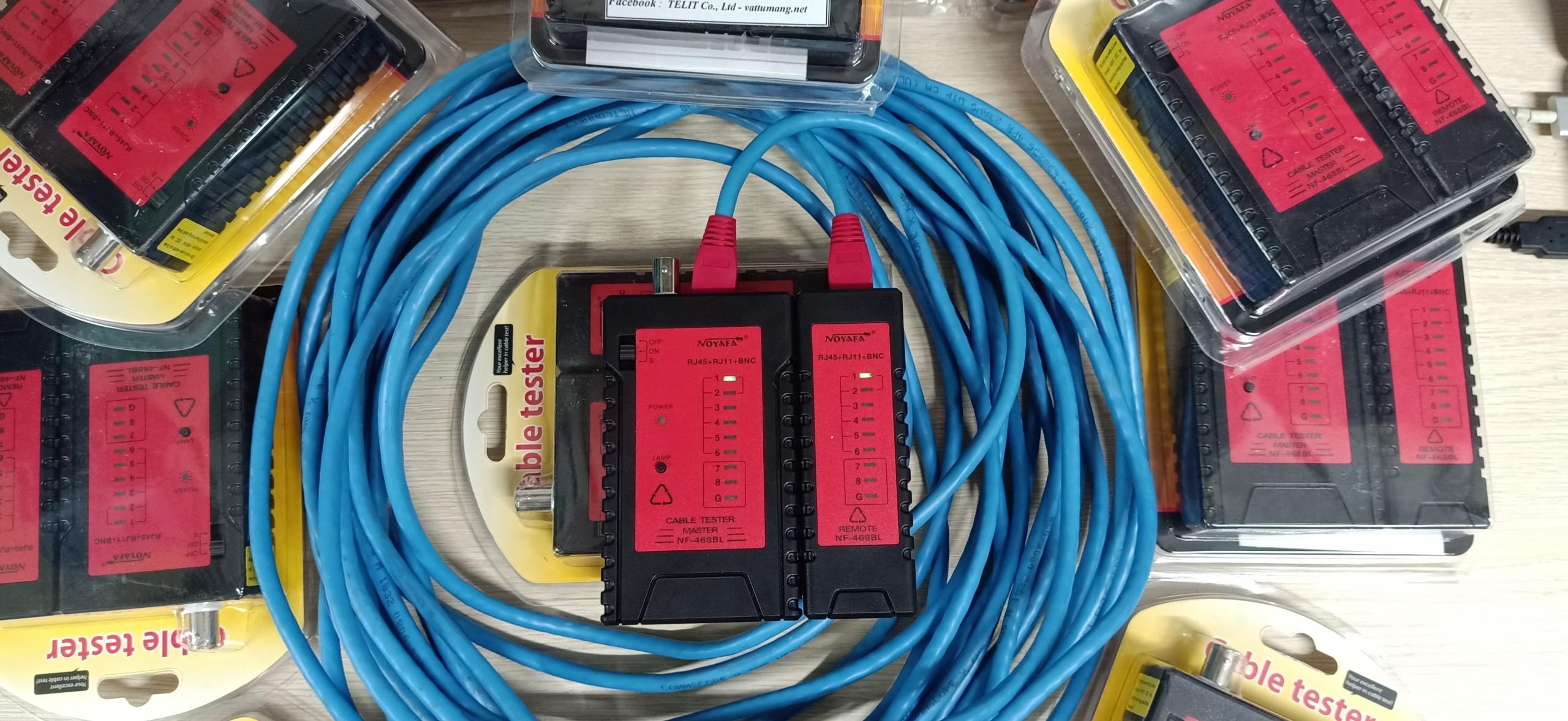 Bộ test cáp mạng NF-468BL Noyafa RJ11/RJ45/BNC/LED - Hàng chính hãng