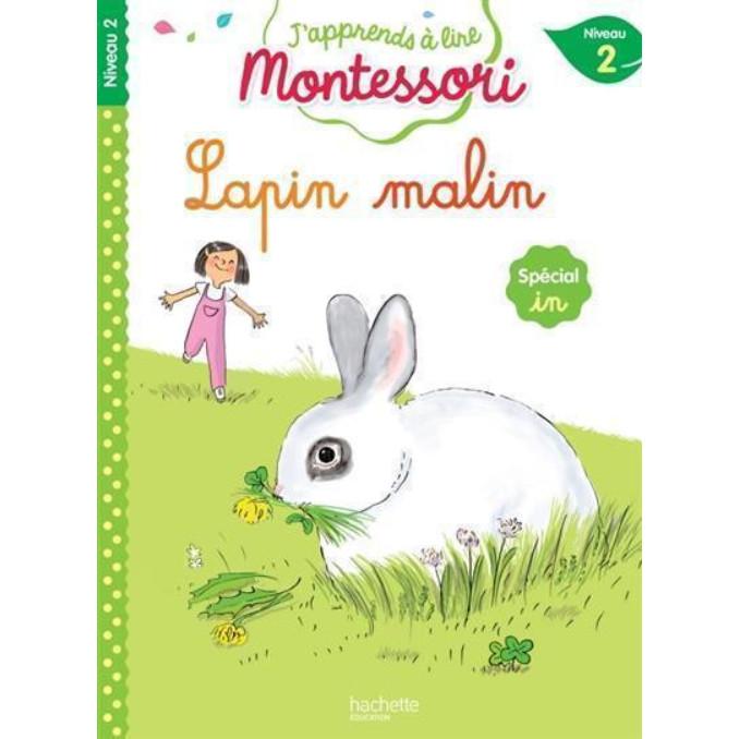 Sách tập đọc tiếng Pháp Montessori niveau 2 - Lapin malin