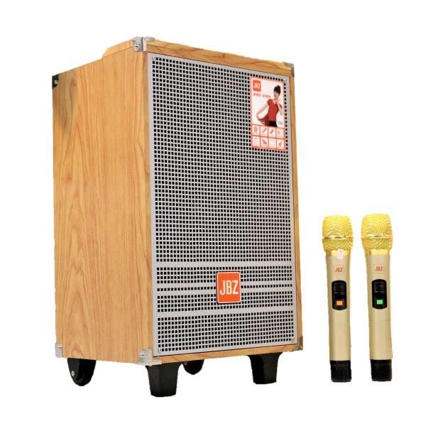 Loa kéo 2.5 tấc JBZ 1003 - Loa kéo di động công suất cao lên đến 250W - Tặng kèm 2 micro không dây UHF - Thiết kế vỏ gỗ sang trọng, âm thanh cực hay - Hàng chính hãng