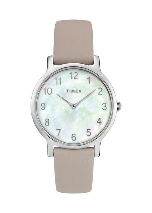 Đồng hồ Dây Da Nữ Timex Fairfield 34mm Leather Strap Watch - TW2T35900