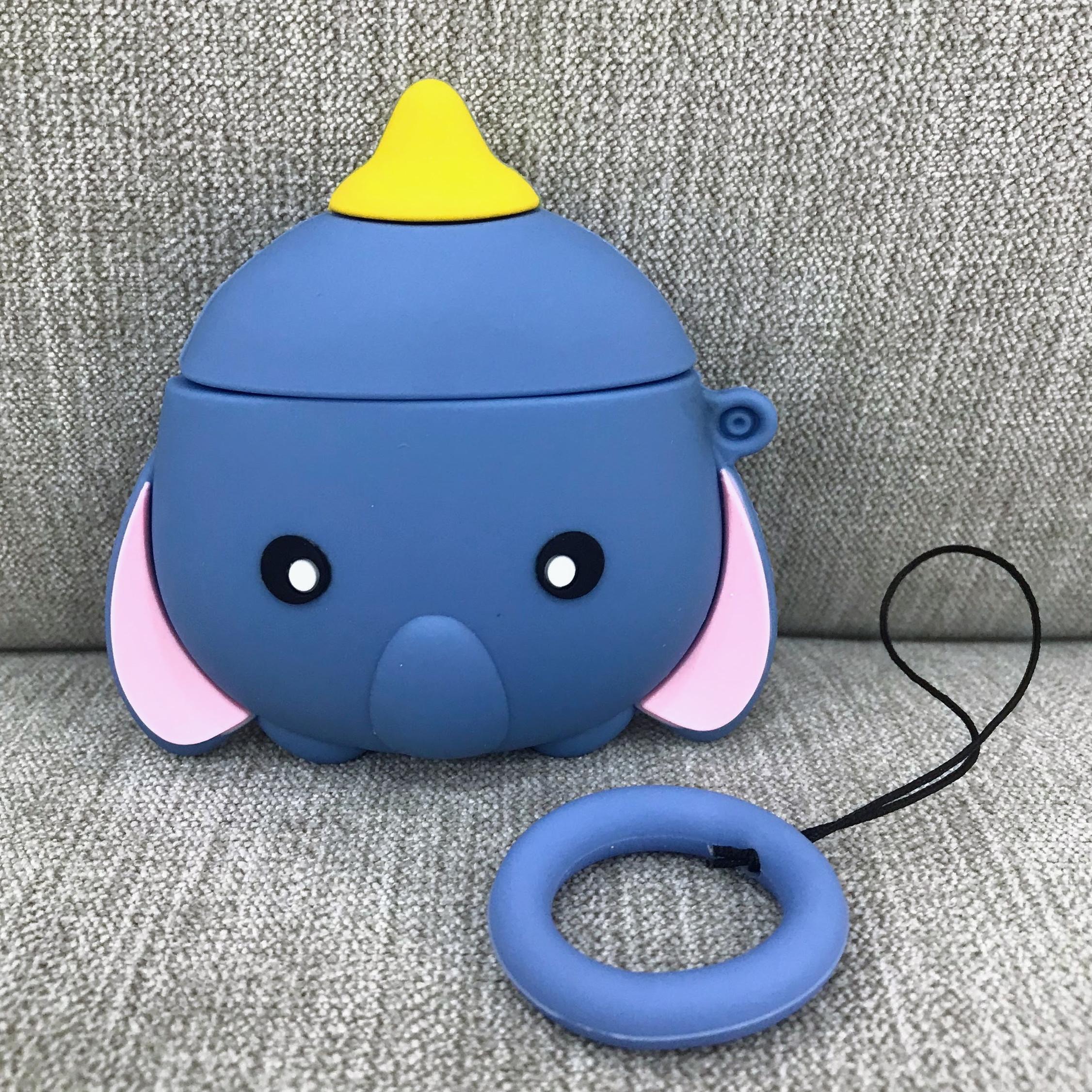 Case Dành Cho Airpods 1 / 2 - Ốp Bảo Vệ Chất Lượng Cao Cấp Dành Cho Airpods 1 / Airpods 2 - Voi Dumbo