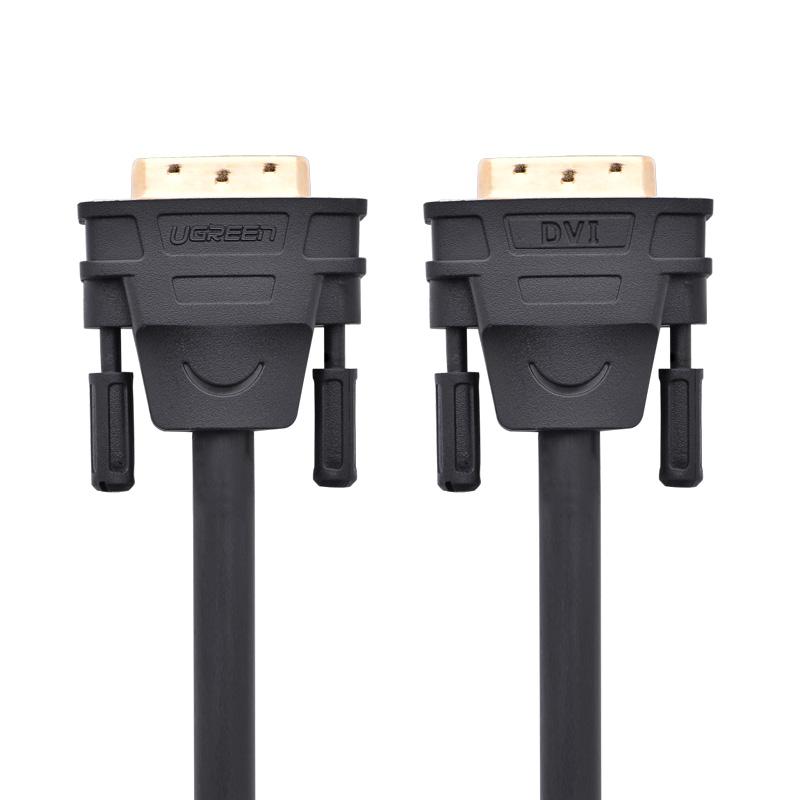 Cáp tín hiệu DVI-D (24+1) 2 đầu đực dài 5m UGREEN DV101 11608 (đen) - Hàng Chính Hãng