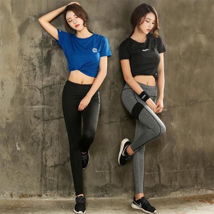 Set Bộ đồ quần Legging áo thun thể thao nữ  ( Đồ Tập Gym, Yoga, Aerobic )