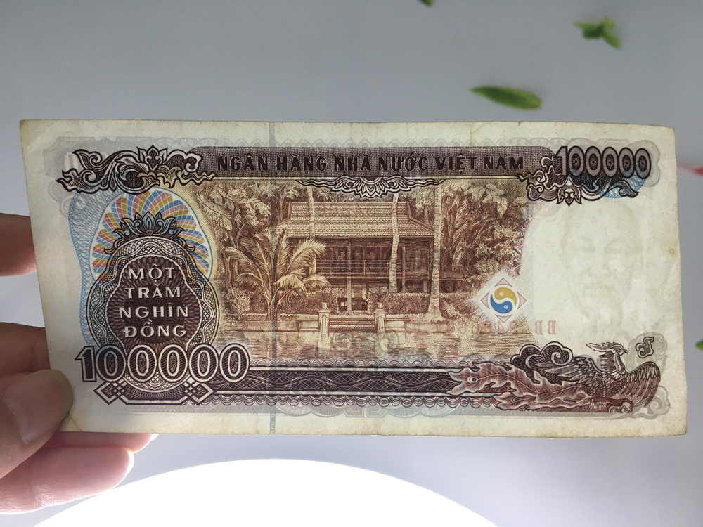 100 ngàn tiền giấy cotton 1994, sưu tầm tiền xưa Việt Nam, tặng phơi đựng nylon bảo vệ - PCCB MINGT
