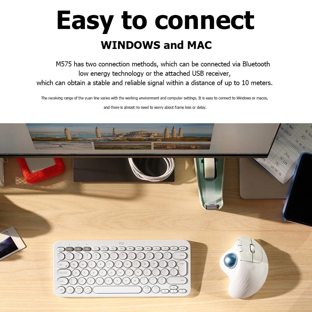 Chuột Không Dây M575 Dùng Cho Văn Phòng, Thiết Kế - M575 2.4G Wireless Trackball Mouse Ergonomic Office Drawing Mice Laptop Computer Ergonomic Mice Silent