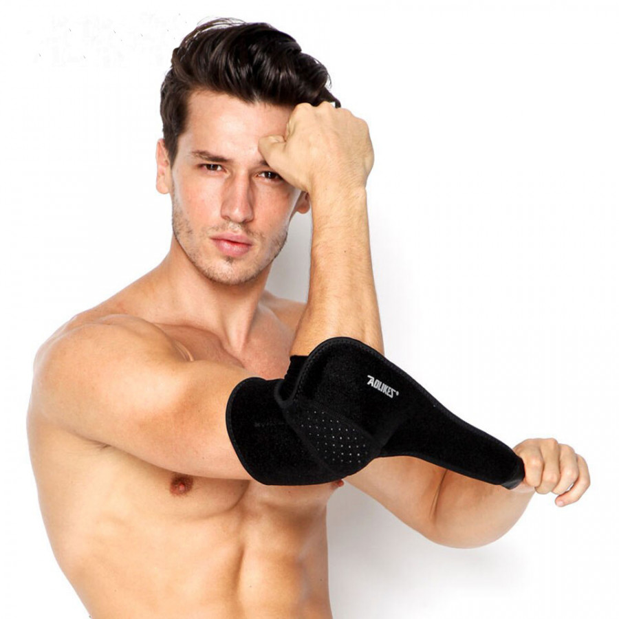 Đai Bảo Vệ Hỗ Trợ Khủy Tay, Cánh Tay Thể Thao Breathable Sport Elbow Support AOLIKES YE-7948 - Hàng Chính Hãng