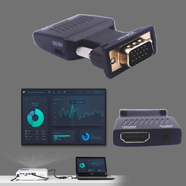Đầu chuyển đổi VGA sang HDMI 1080p có Audio