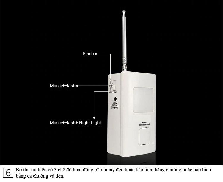 Bộ báo khách cảm biến hồng ngoại không dây cao cấp ( Dùng trong sân vườn, nhà cửa, khu dân cư ... - TẶNG KÈM PIN )