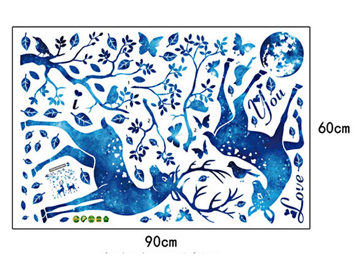 decal dán tường hươu xanh sk9181