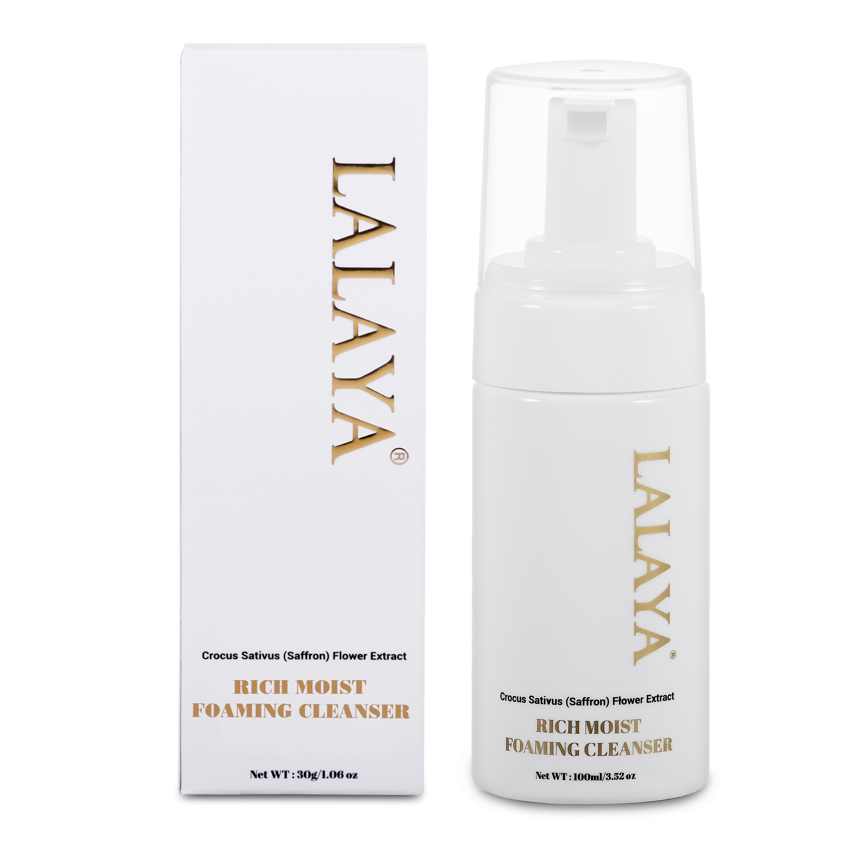 Bộ đôi Serum giảm mụn ngừa vết thâm Lalaya Anti Acne Serum và Sữa rửa mặt tạo bọt dịu nhẹ làm sạch sâu & giảm nhờn công thức không xà phòng Lalaya Rich Moist Foaming Cleanser LLYC1