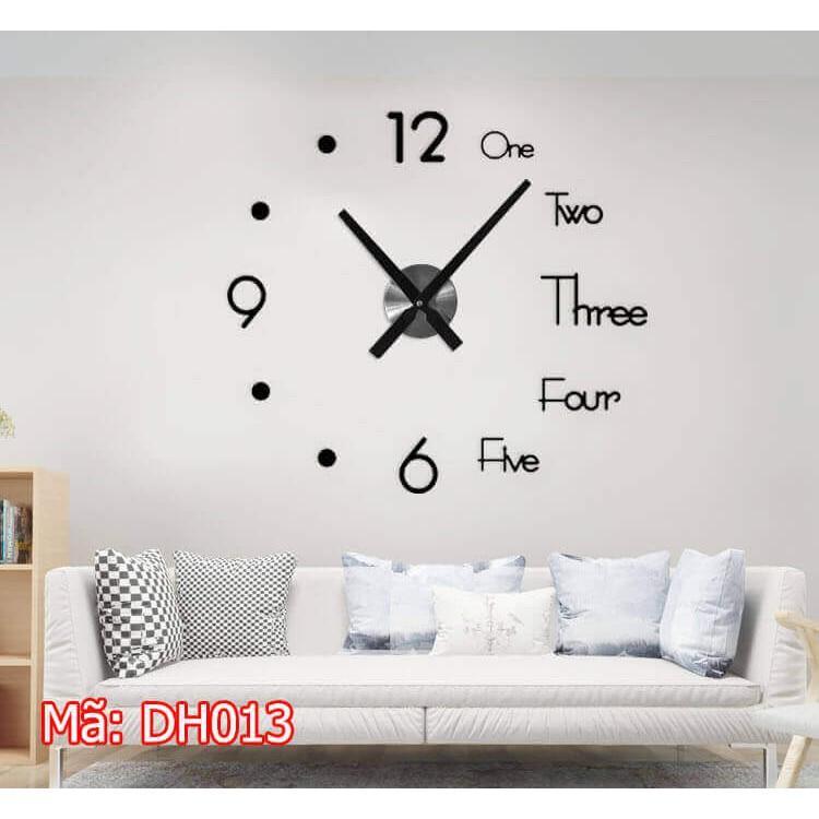 Đồng hồ dán tường cỡ nhỏ - đồng hồ treo tường DH76