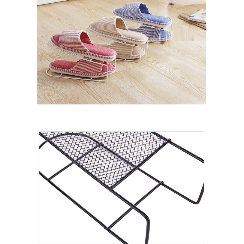 Kệ để giày dép kim loại thông minh đơn giản tiết kiệm tối đa diện tích phòng, bền đẹp siêu tiện lợi - giao màu ngẫu nhiên