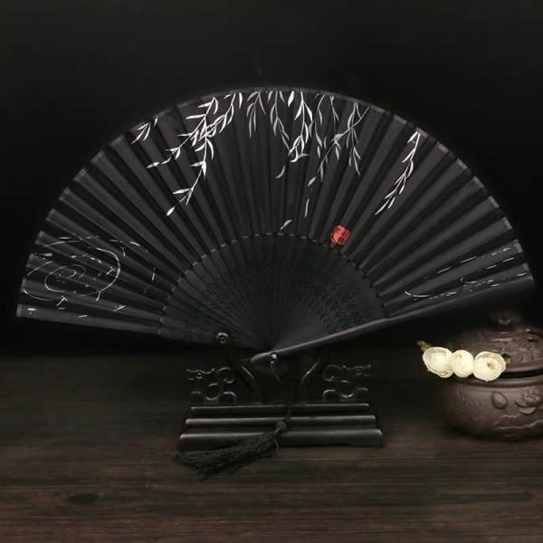 Quạt cổ trang chim đào phong cách Trung Quốc quà tặng xinh xắn tặng ảnh Vcone