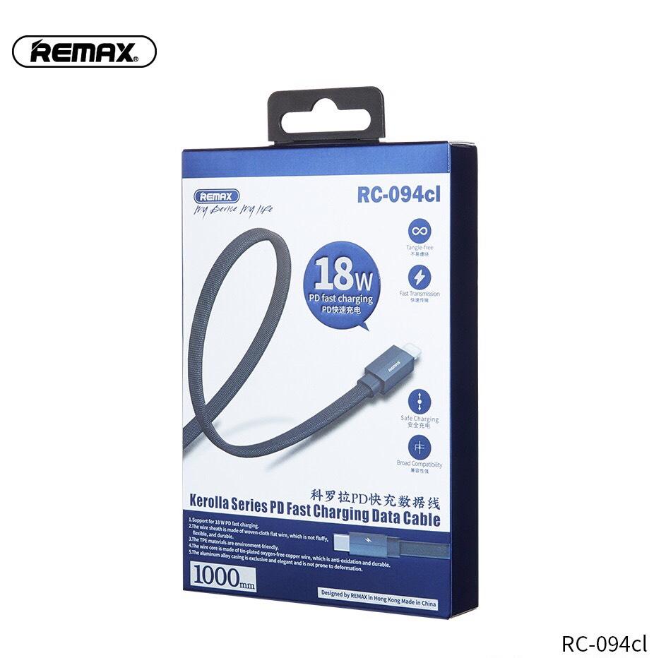Cáp Sạc Nhanh 18W Remax RC-094CL - Dành Cho iPhone 8->12Pro Max - Hàng Chính hãng