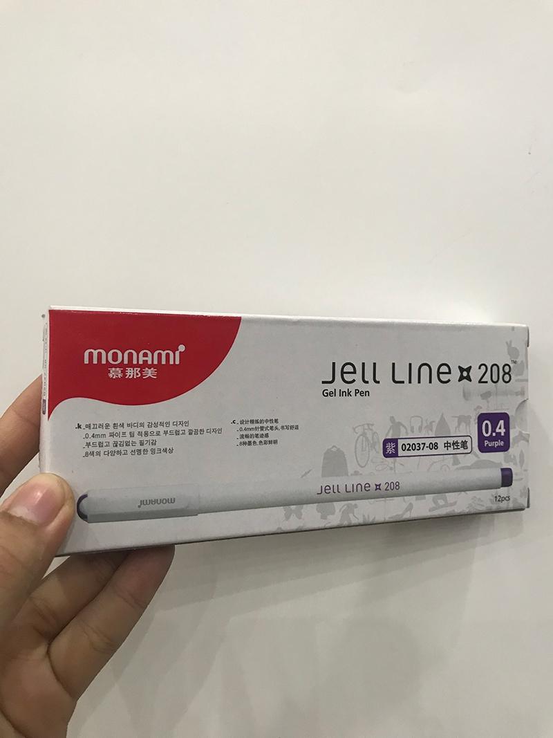 Bộ 2 Bút nước Jell Line 208 tím - Monami