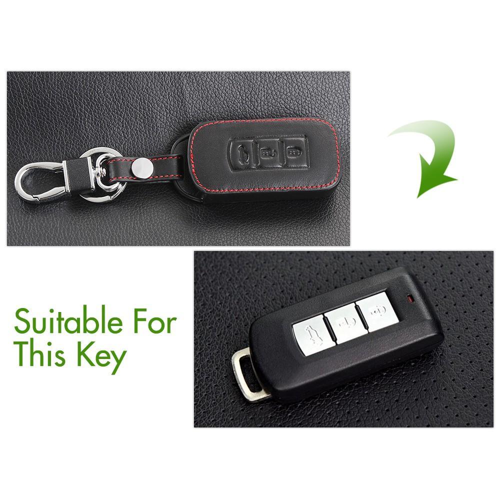 Bao da chìa khóa cao cấp dành cho xe Mitsu Xpander kèm móc khóa mẫu RO