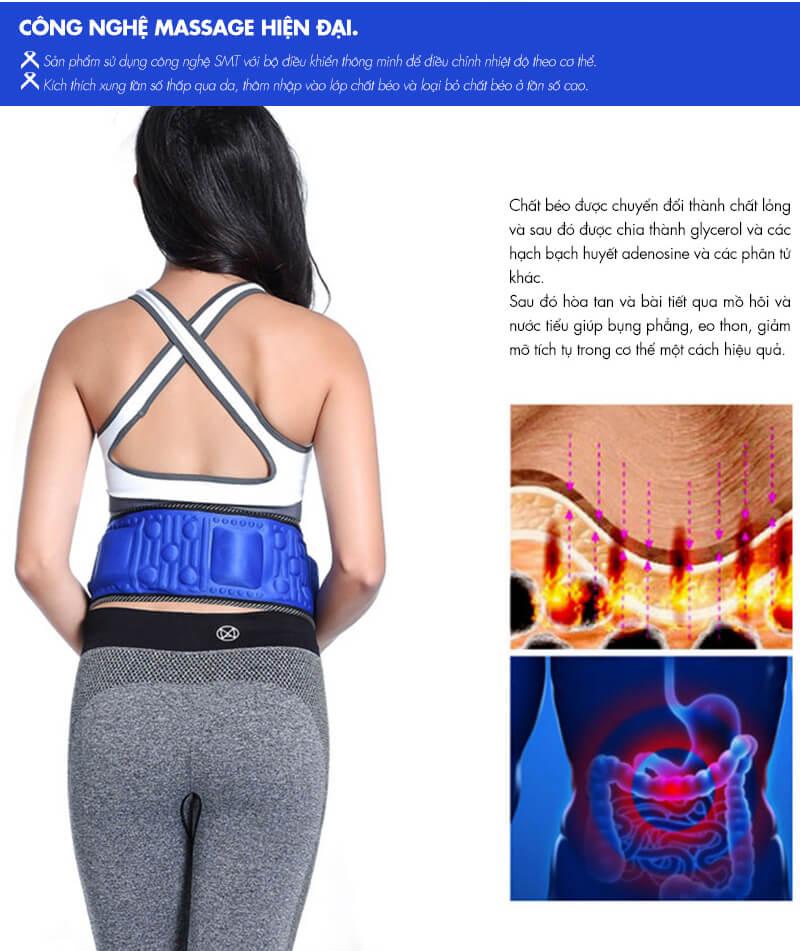 Đai Massage Toàn Thân Vibroaction X5 Hàng Nhập Khẩu Cao Cấp, Chính Hãng MAX STAR, giảm mỡ hiệu quả nhanh chóng, an toàn, dễ dàng sử dụng