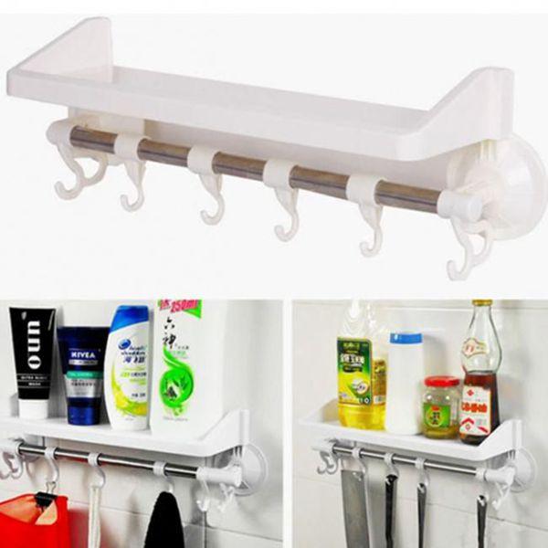 Giá để đồ kèm móc treo trong phòng tắm tiện lợi