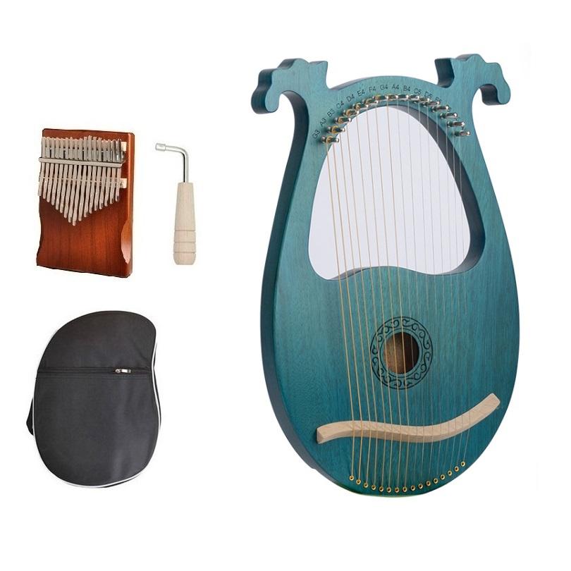 Đàn Lyre 16 dây đàn hạc Lyre Harp IME1390-MS025 Đầy đủ phụ kiện LOẠI 16 DÂY tặng đàn kalimba 17 phím gỗ nguyên khối Mahagony PJLIM72