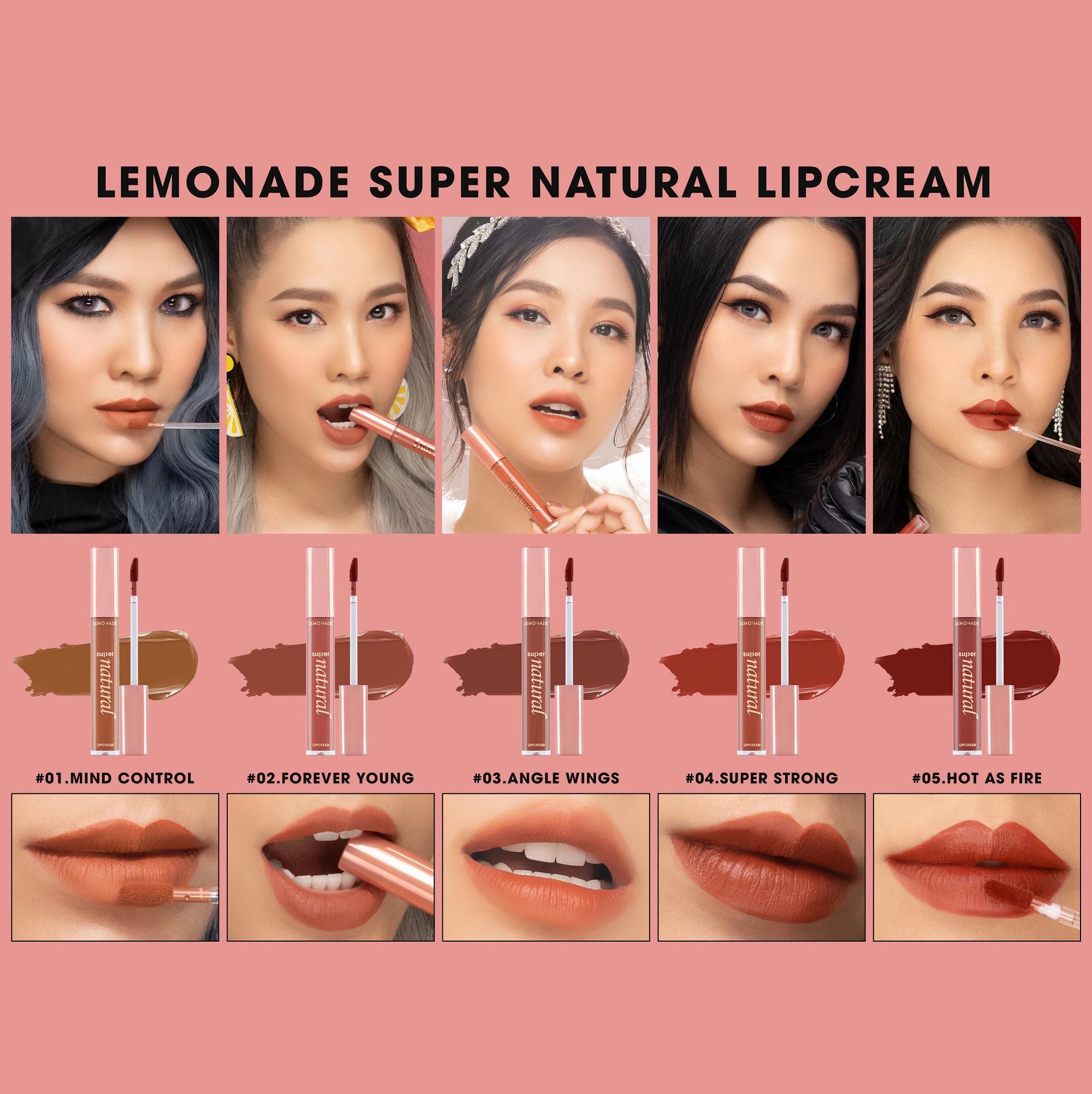 Combo 5 son Super Natural Matte Lipcream 5g x 5