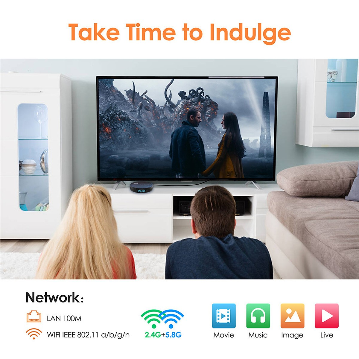 (Tặng chuột wireless cao cấp) Smart Box Hk1 S905X2 Chip Android 8.1 Dual-Frequency Wifi Network Player Tv Box Memory Capacity:4G+32G Specification
