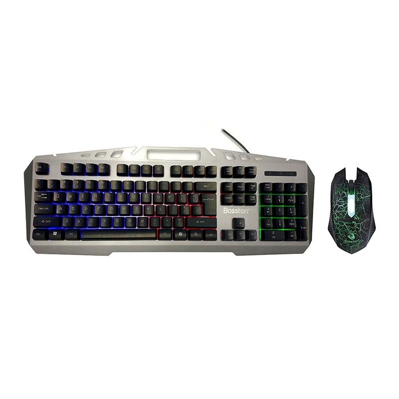 Bộ phím giả cơ và chuột Bosston 8350 phím cao chống nước, bấm cực ...