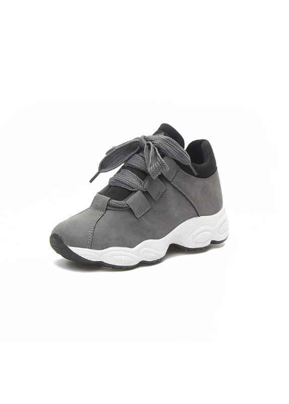 Giày Thể Thao Sneaker Nữ đế cao (XÁM)