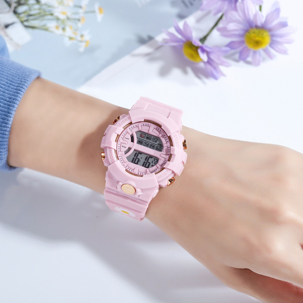 Đồng hồ nam nữ điện tử dây cao su cực đẹp DH107