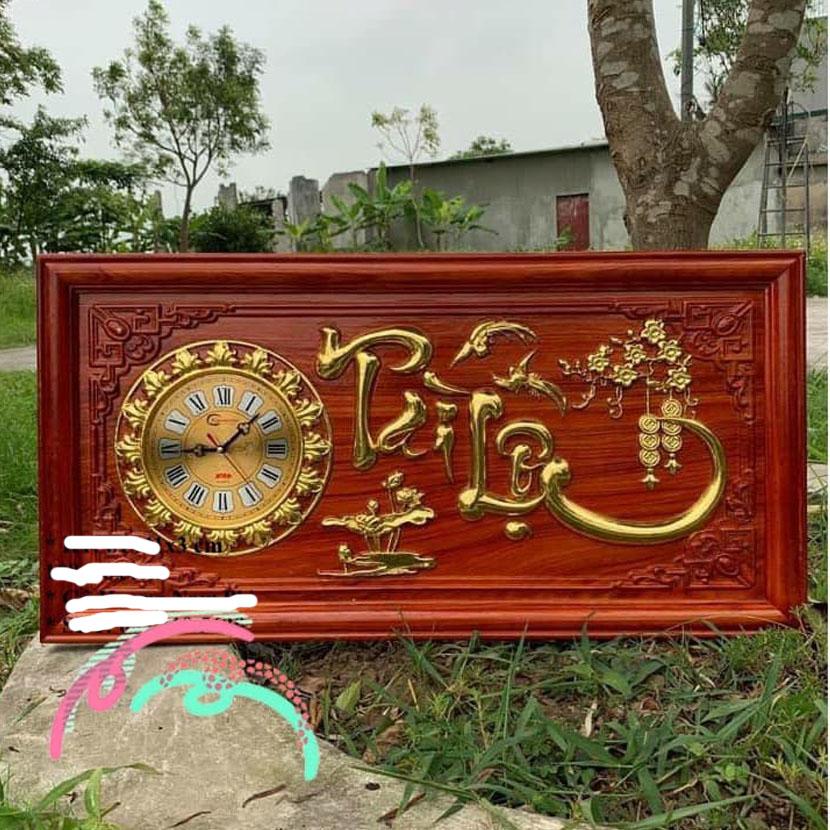 đồng hồ tài lộc gỗ hương 41 x 81