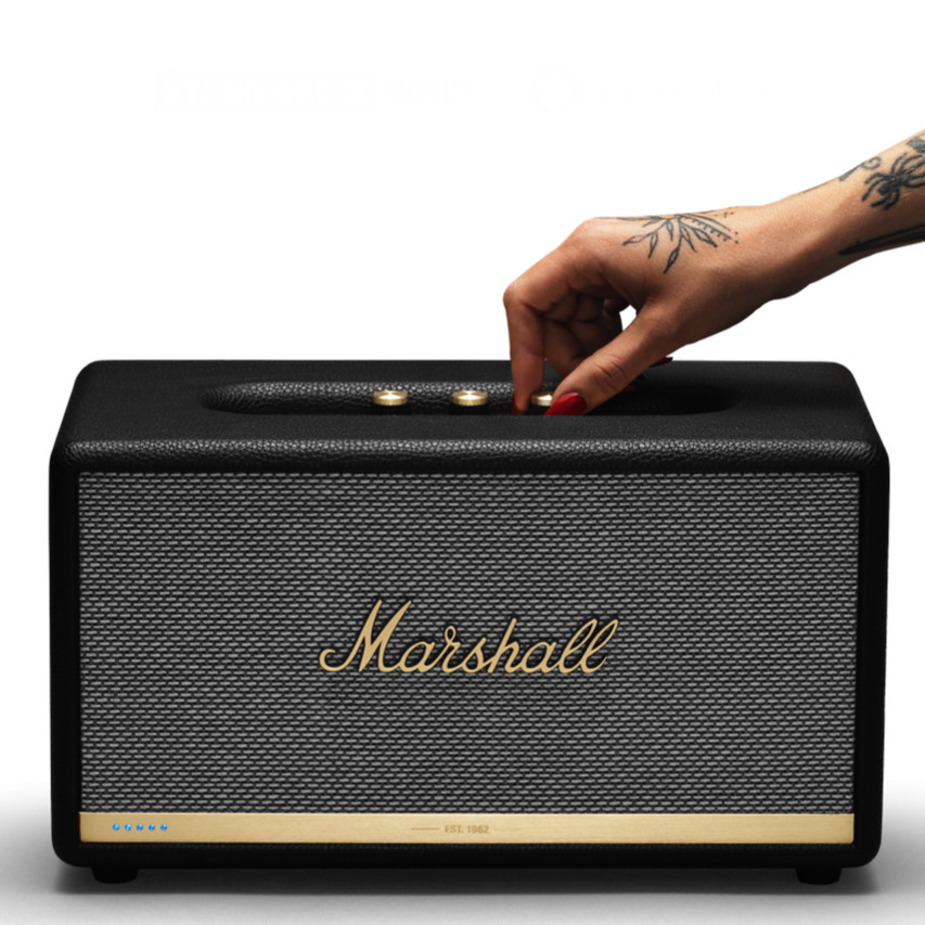 Marshall Stanmore II Amazon Alexa Loa Bluetooth Điều Khiển Bằng Giọng Nói Chính Hãng - Đen
