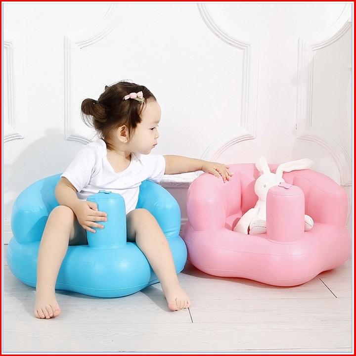 Ghế hơi Nhà của Mẹ dùng để tập ngồi có thể tự bơm, có lỗ thoát khí thông thoáng, kích thước sau khi bơm 50*45cm - màu sắc giao ngẫu nhiên tặng kèm 1 bấm móng tay hình thú