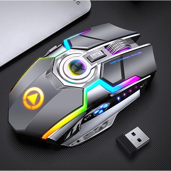 Chuột Gaming Yindiao A5 Bluetooth/Wireless Pin Sạc E-sports, Led RBG 7 màu - Chính Hãng
