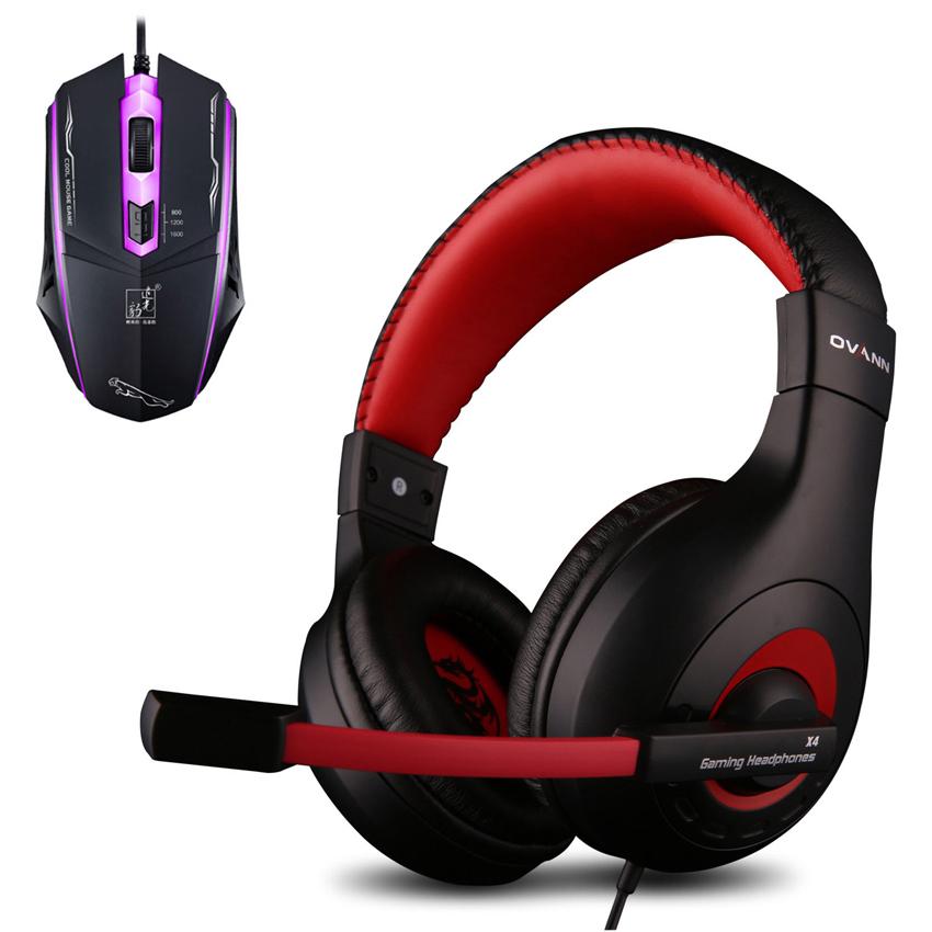 Combo Tai nghe chơi Game Ovann X4 và Chuột Có Dây Cool Mouse (Màu Ngẫu Nhiên) - Hàng Chính Hãng