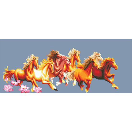 Tranh thêu Mã Đáo Thành Công X8001  97X45 cm