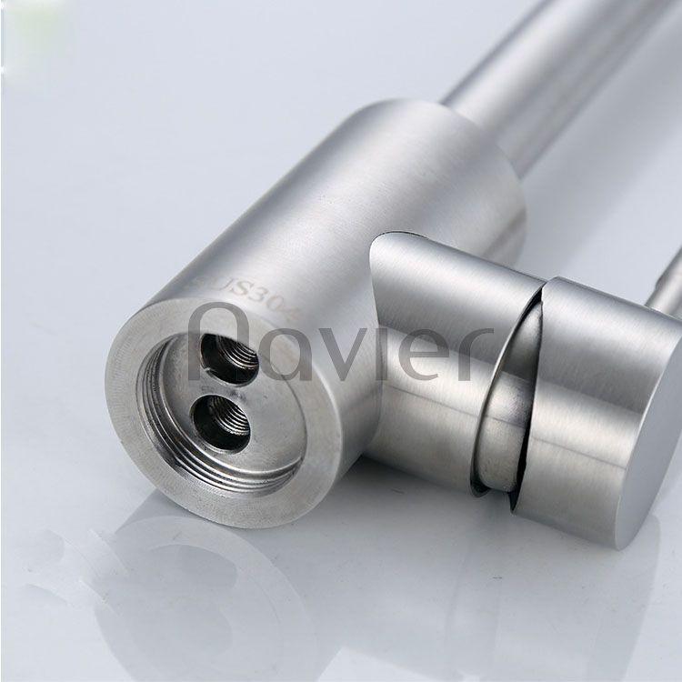 Vòi rửa chén nóng lạnh uốn tròn inox304 Navier NV-206