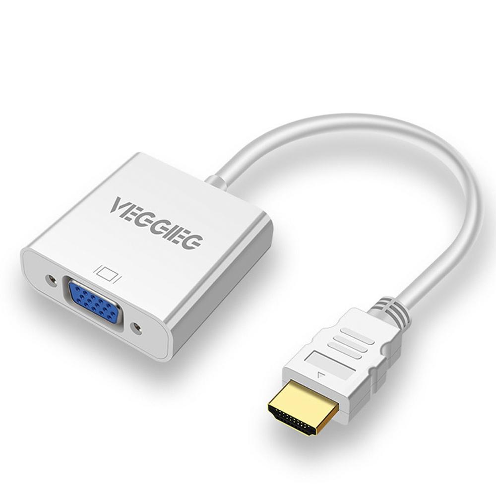 Dây cáp chuyển đổi HDMI ra VGA 1080P VEGGEIG H-V1W - Màu trắng