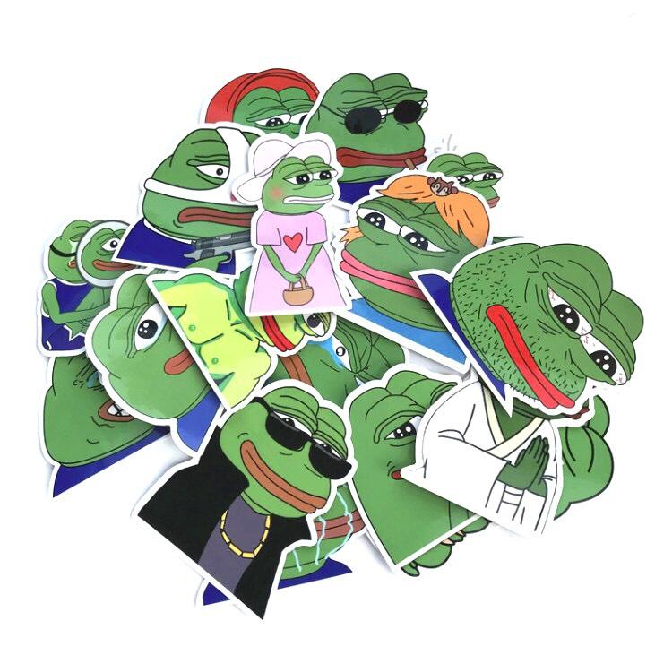 Sticker ếch xanh Pepe Set 100 ảnh siêu bựa