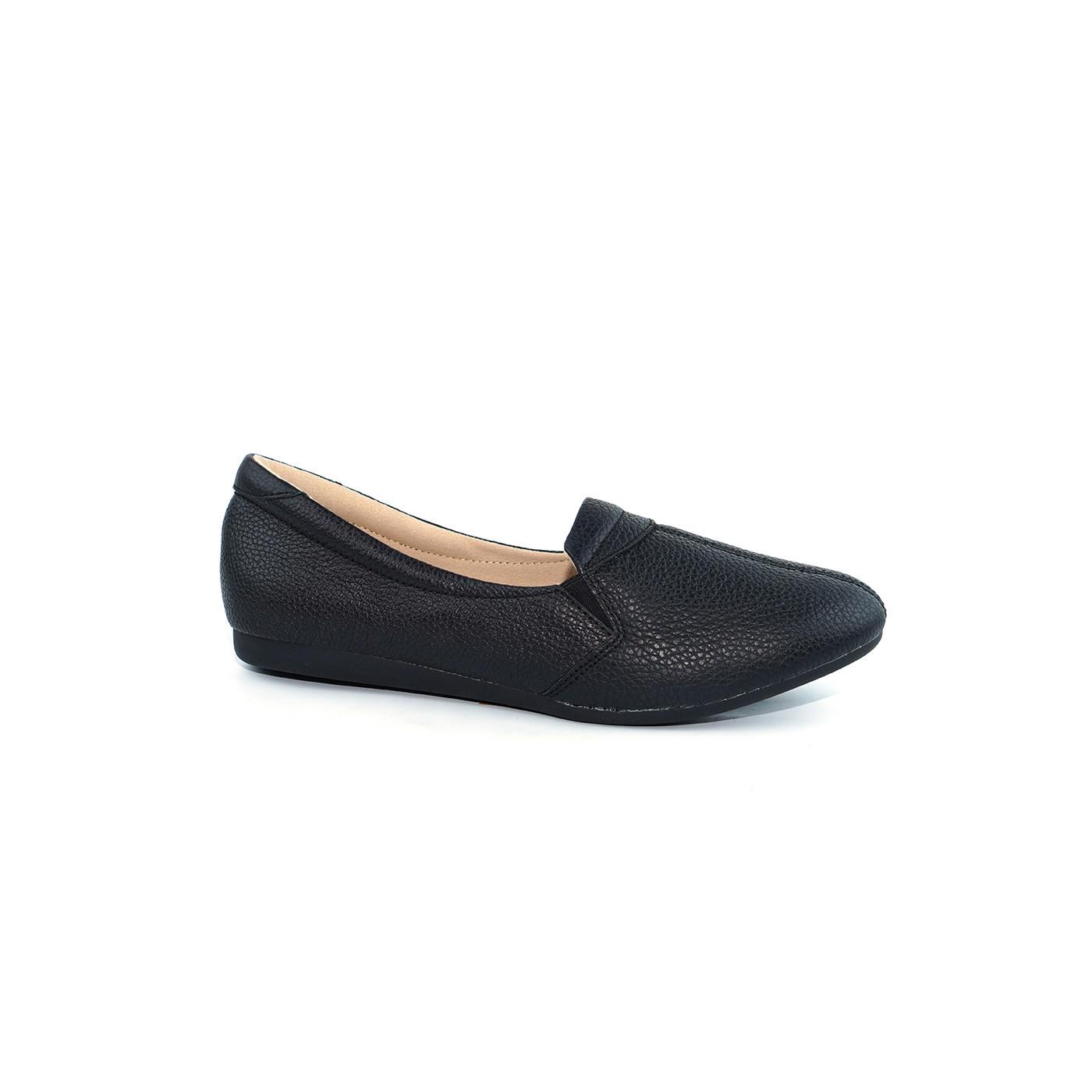 Giày mọi viền chỉ giữa da bò thật - Giày mọi nữ da thật cao cấp thời trang PABNO PN19001