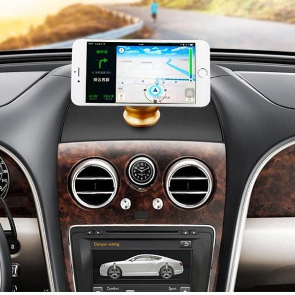 Bộ giá đỡ nam châm điện thoại trên xe hơi - tặng 1 lọ tinh dầu Sả treo xe ô tô