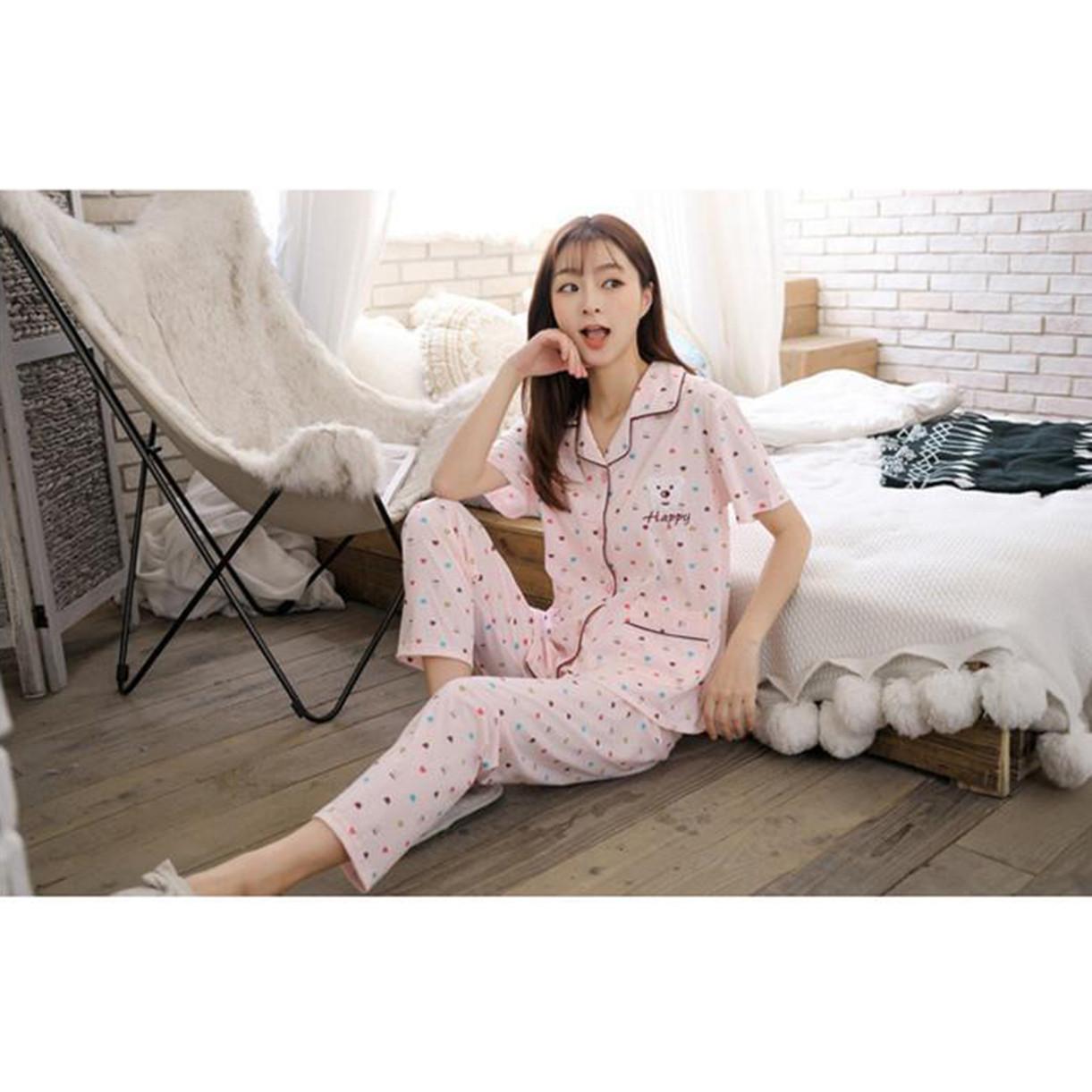 Bộ Pijama cộc tay gấu dễ thương